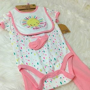 Chick Pea Daddy's Sunshine Girl's Four-Piece Set